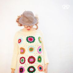 so so so cute #crochet #grannysquares