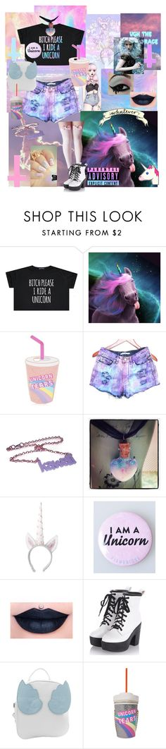 """Unicorn princess "" by cosmicpanda ❤ liked on Polyvore featuring Topshop"