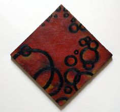 A personal favorite from my Etsy shop https://www.etsy.com/listing/103796737/abstract-red-black-circles-acrylic