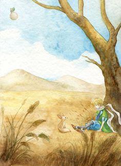 """""""Gano -dijo el zorro-, por el color de trigo...."""" (Autor: Ya-Ong Nero)"""