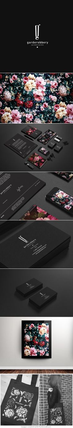 The very beautiful Garderobbery #identity #packaging #branding PD - created via https://www.behance.net/gallery/Garderobbery/7383521