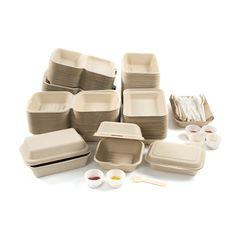 Natural Wheat Fibre Burger Box - Pack of 50 Salad Packaging, Sandwich Packaging, Takeaway Packaging, Vegetable Packaging, Food Packaging Design, Coffee Packaging, Smart Packaging, Chocolate Packaging, Bottle Packaging