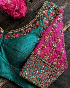 Wedding Saree Blouse Designs, Pattu Saree Blouse Designs, Fancy Blouse Designs, Blouse Neck Designs, Hand Work Blouse Design, Stylish Blouse Design, Aari Work Blouse, Couture, Crochet