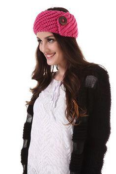 Pink Knit Head Wrap
