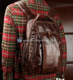 Leather Men, Leather Jacket, Leather Bags, Canvas Travel Bag, Brown Leather Backpack, Men's Backpack, Backpacks, Suits, Check