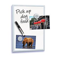 "FORAY™ Magnetic Dry-Erase Boards With Aluminum Frame, 8 1/2"" x 11"", White"