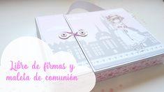 Libro de firmas y maleta de comunión scrapbook   Guest book and suitcase   Scrapeando con Rocío Rocío López Jiménez