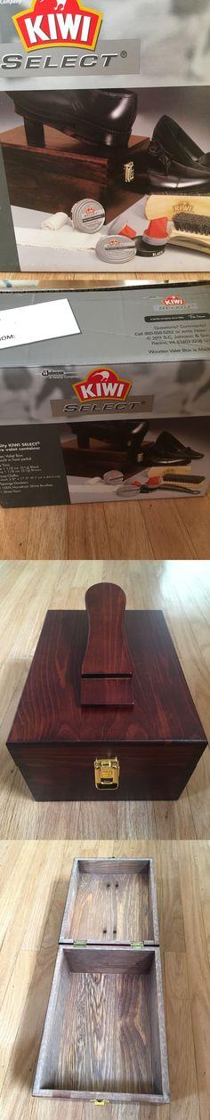 3d0f527bda1 Shoe Care and Repair 178963  Kiwi Select Shoe Shine Care Kit Valet Ii  Wooden Box