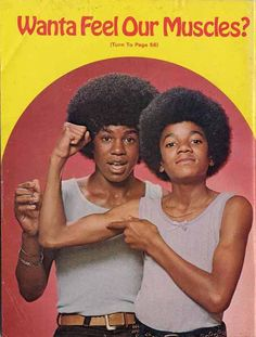 Michael & Jermaine Jackson: Wanta Feel Our Muscles?