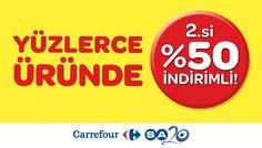 #Cepa #CarrefourSa'da yüzlerce ürünün 2.si %50 indirimli!  #cepaavm #shopping #mall #avm #ankara #turkiye #turkey #indirim
