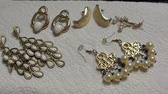 Lot of Vintage Pierced Earrings #Pierced