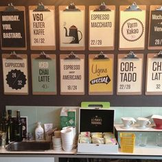 Restaurant Menu Board Ideas Download now Kickback Coffee Shop Menu ...
