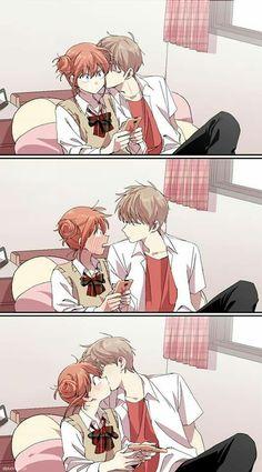 New Drawing Love Couple Anime Kiss Ideas Anime Couple Kiss, Manga Couple, Anime Couples Manga, Manga Anime, Love Kiss Couple, Anime Girls, Cute Anime Coupes, Cute Couple Comics, Anime Lindo