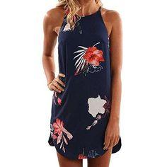 Oferta: 3.68€. Comprar Ofertas de Winwintom Mujer Vestido Verano Sin Mangas Flor Impreso Casual Mini Vestido (M) barato. ¡Mira las ofertas!