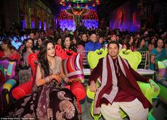 Rohan Mehta, right, and his beautiful wife Roshini, right, continued their marathon three-...