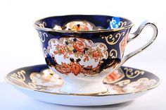 Vintage Royal Albert Bone China Derby Teacup and by SharonTalson