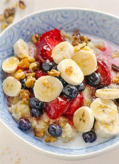 closeup-slow-cooker-quinoa-porridge #halfyourplate