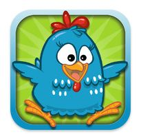 This icon of an app Brazilian children's songs of chicken freshly painted, very good for the kids, great job this icon, because this chicken with a very good effect