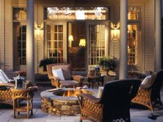 Outdoor Fireplaces and Fire Pits That Light Up the Night : Home Improvement : DIY Network