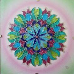 """Mandala -  na skle ručně malovaná autorská mandala """"Kouzel plná"""" * Glass Hand Painted Mandala """"Full of Magic"""""""