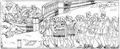 87 Aanval met een ladder op de hoofdstad van de Daciërs, Sarmizegetusa, op bevel van de keizer.