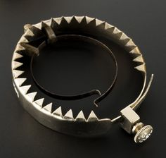 It was a metal ring with jagged spikes lining the edge pointed inward. A clip was used to attach the ring to the base of the penis & when an erection increased the penis' girth the sharp spikes would deter ejaculation. Transcription Training, Medical Transcription, Forms Of Birth Control, Special Keys, Feminine Hygiene, Medical History, Leather Pouch, Victorian Era, Metal Ring