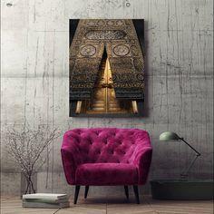 Islamic Wall Art Kaaba Gate Canvas Print Decor, Islamic Decoration Art, Islamic Home Decoration Gift, Hadj Gift, Islamic Modern Wall Art GS Metal Wall Decor, Wall Art Decor, Wall Art Prints, Canvas Prints, Islamic Wall Decor, Islamic Art, Islamic Gifts, Sculpture, Modern Wall Art
