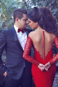 Cheap lace up back prom dress, Buy Quality dress romantic directly from China dress wedding lace Suppliers: Long Sleeve 2016 New Sexy Mermaid See Through Back Summer Red Lace and Satin Prom Dress Long Evening Party Dress Robe de Soiree