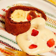 マスカルポーネクリームがゆるくてほぼ流れ出てしまったので、ロールケーキの上からかけました!笑 - 36件のもぐもぐ - ティラミスのロールケーキ by hoppewapinker