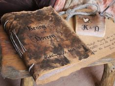 Leather journal Extra thick hand bound with jute cord by crearting
