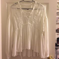NWT Free people ivory Shirt small Brand new with tags Free People Tops