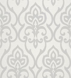 WashingtonWallcoverings Barbara Becker Home Passion x Damask Embossed Wallpaper Color: White