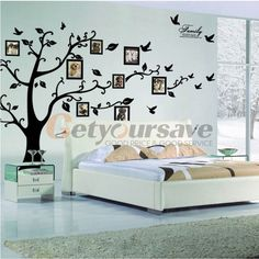 "99""x79"" inch Family Picture Home Decor Tree Photo Frame home Room Decal Wall Art Sticker Extra Large"
