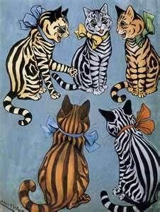 Louis Wain Cat Prints