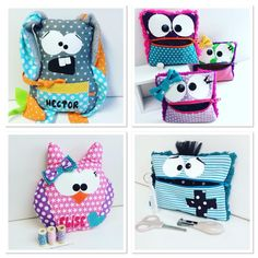 Dyi Pillows, Bags Sewing, Projects To Try, Lunch Box, Arts And Crafts, Babies, Children, Party, Cat Cushion