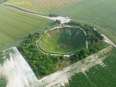 The Lochnagar Crater on the Somme, France, is now privately owmade during World War I. It was created during WW1 and purchased by Richard Dunning in 1978 with the aim of preserving the site.