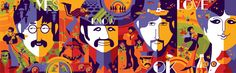 Dark Hall Mansion is proud to release their new officially licensed Beatles project, the 4-print Limited Edition set: John, Paul, George and Ringo.Dark Hall Mansion will release their new Beatles limited edition screen print set of 4 by leading contemporary artist, Tom Whalen, on February 12, 2013. This exclusive 4-print set stunningly showcases The Beatles