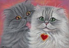 Persian Cats Painting
