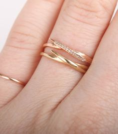 Catbird::shop by category::JEWELRY::Rings::Lily Leaf Ring, with diamonds