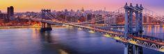 Manhattan bridge twilight Panorama