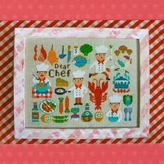 Shop | Category: Embroidery & Cross Stitch | Product: Gera Cross Stitch - Dear Chef