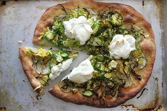 Potato, Brussels Sprouts, & Goat Cheese Pizza via @Heather Creswell Christo