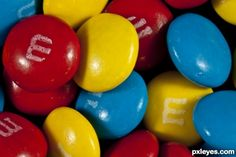 The primary colours are blue, yellow and red. this picture of . Red Things m&ms red color Blue Yellow, Red And Blue, Yellow Photography, Color Harmony, Photography Contests, Photo Wall Collage, Red Fish, Blue Aesthetic, Aesthetic Pictures