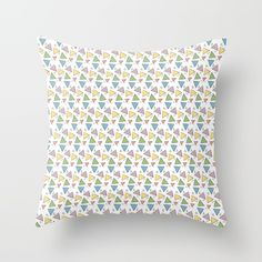 "Add some spunk to your style with this playful ""Dancing Triangle"" pattern. Throw Pillow."