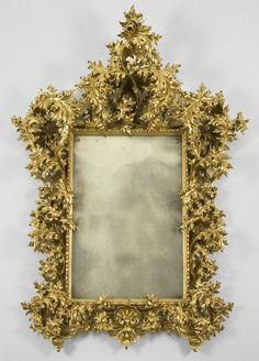 Large Italian Rococo gilt mirror, First half C. This sort of thing but around the front door Ornate Mirror, Vintage Mirrors, Antique Frames, Wood Mirror, Mirror Mirror, Shabby Chic Mirror, Mirror Painting, Through The Looking Glass, French Decor