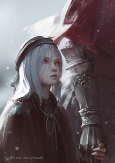 If Miyazaki someday in the future answer our prayers and makes a Dark Souls do you think it should play out in the new world inside the little girl?s painting? Dark Souls 3, Arte Dark Souls, Dark Fantasy, Fantasy Art, Fantasy Characters, Female Characters, Dungeons And Dragons, Character Inspiration, Character Art