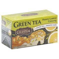 Celestial Seasonings Honey Lemon Ginseng Green Tea Bags Pack of 6 Review Buy Now
