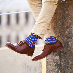 Get your Zigzag on in these radical men's socks!