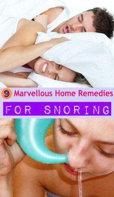 9 Marvellous Home Remedies to Stop Snoring.  Hmm... how many of these can I secretly get my husband to try???  He doesn't think he snores.  Haha