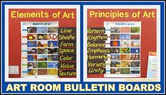Art Room Bulletin Boards on Elements and Principles of Art via RainbowsWithinReach